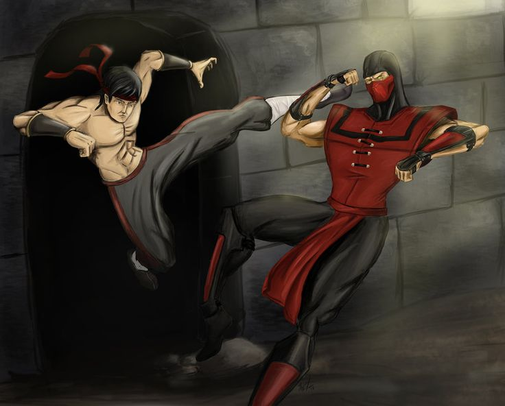 Liu Kang vs Ermac by Amenoosa on DeviantArt