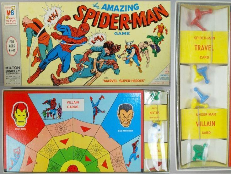 Spider-Man 1967 | SPIDERMAN Spider-Man 1967 Marvel Super Heroes Game Milton Bradley Old ...