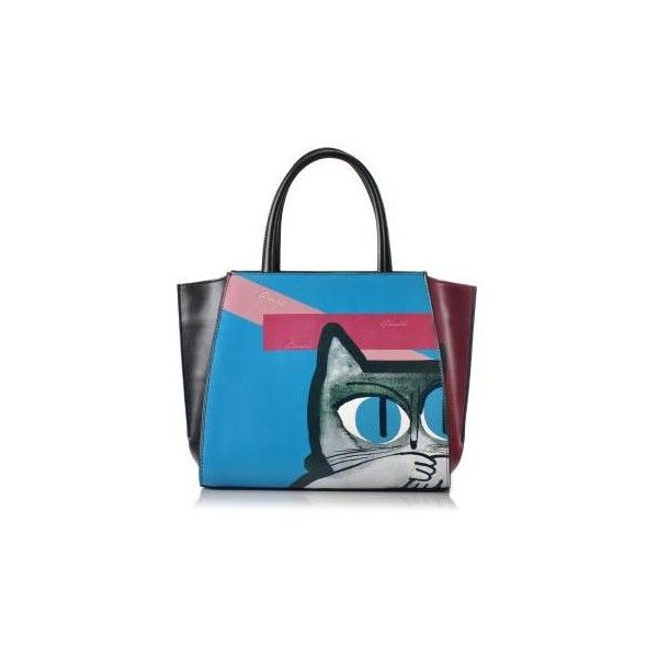Blue Cat Pattern Tote (2.283.790 VND) ❤ liked on Polyvore featuring bags, handbags, tote bags, cat handbags, blue tote bag, blue tote, handbags totes and blue purse