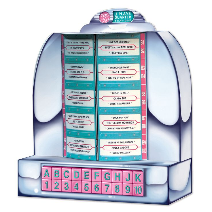 1950s Tabletop JUKEBOX CENTERPIECE Party Decoration SOCK HOP Grease HAPPY  DAYS