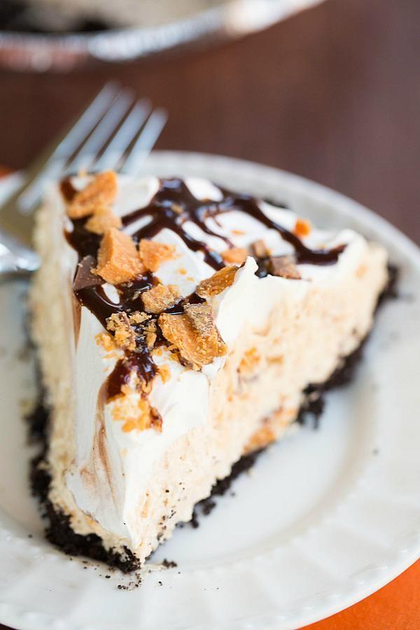 No-Bake Butterfinger Pie Recipe | via Brown Eyed Baker