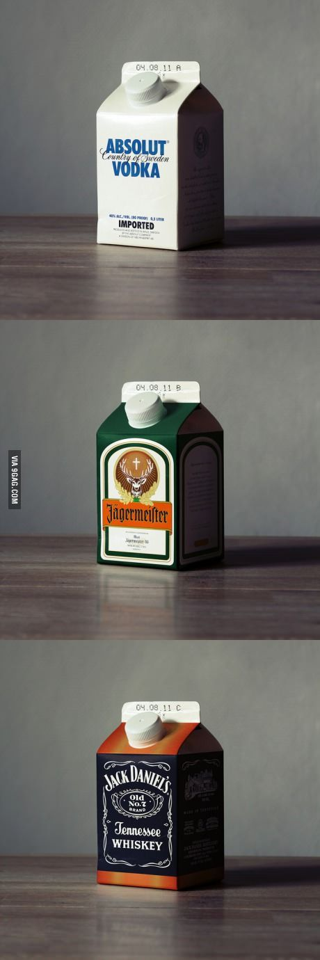 If alcohol brands used milk cartons instead of bottles #packaging PD