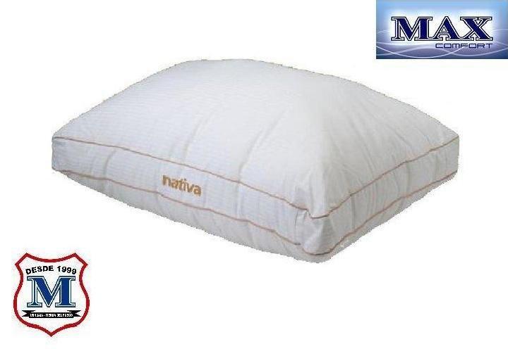 ALMOHADA GEMA NATIVA    Todo el confort dentro de una almohada que ofrece, además, adaptación ergonométrica y capacidad de recuperación. Una original cabecera perimetral le confieren un aspecto sorprendente.