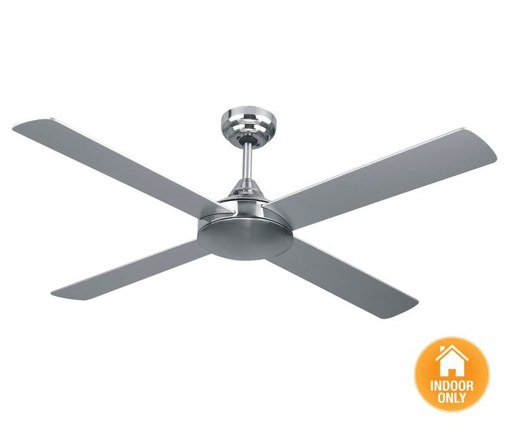 Airfusion Airlie 122cm Fan in Brushed Chrome | Ceiling Fans No Lights | Ceiling  Fans | - Best 25+ Ceiling Fan No Light Ideas On Pinterest Diy Light
