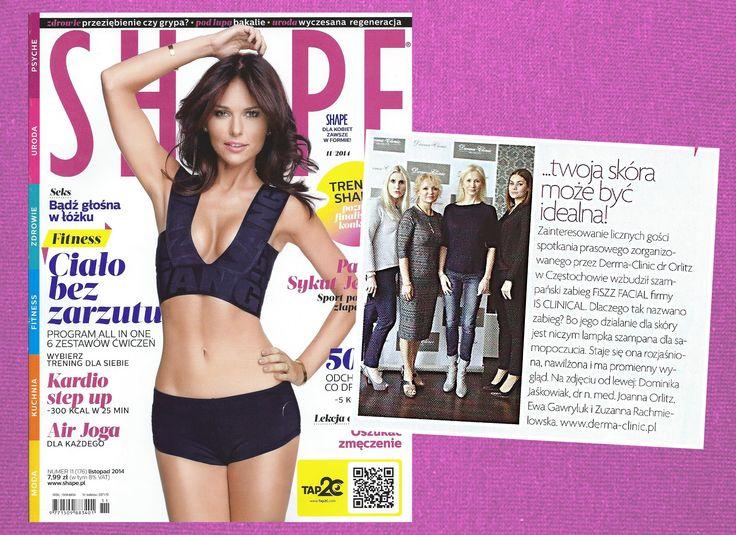 Po raz kolejny magazyn SHAPE pisze o Derma-Clinic dr Orlitz, dziękujemy!  #shape #magazine #drOrlitz #media