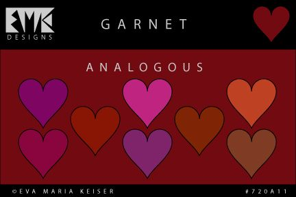 "Eva Maria Keiser Designs: Explore Color: ""Garnet"" - Analogous"