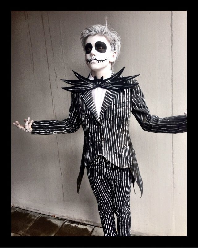 My son Albert as Jack Skellington | DIY costume.