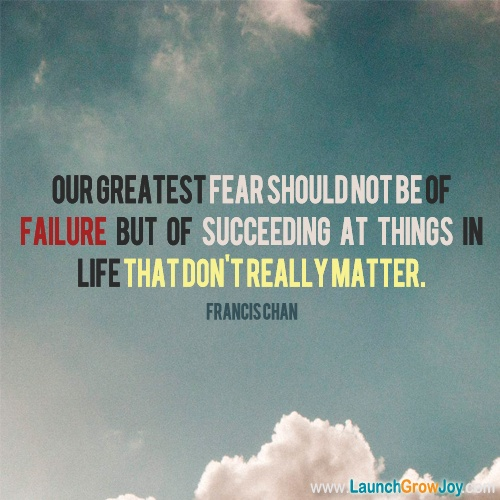 Great quote from Francis Chan