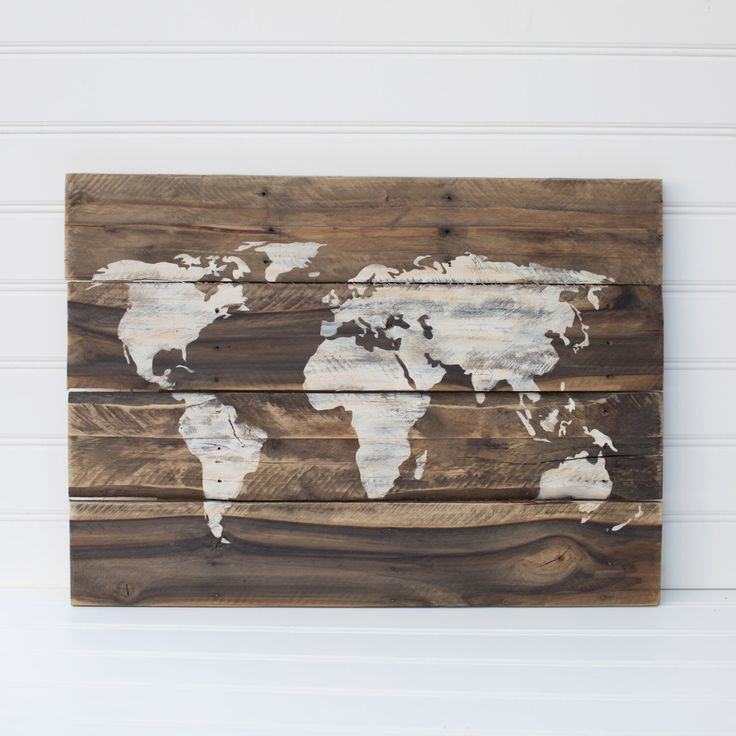 World map rustic, wooden sign made from reclaimed pallet wood by ACEandAVY on Etsy https://www.etsy.com/listing/233425666/world-map-rustic-wooden-sign-made-from