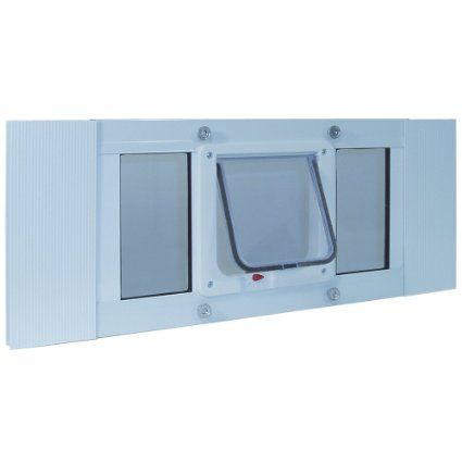 Amazon.com: Ideal Pet Products 33-Inch to 38-Inch Sash Cat Flap, Small: Pet Supplies
