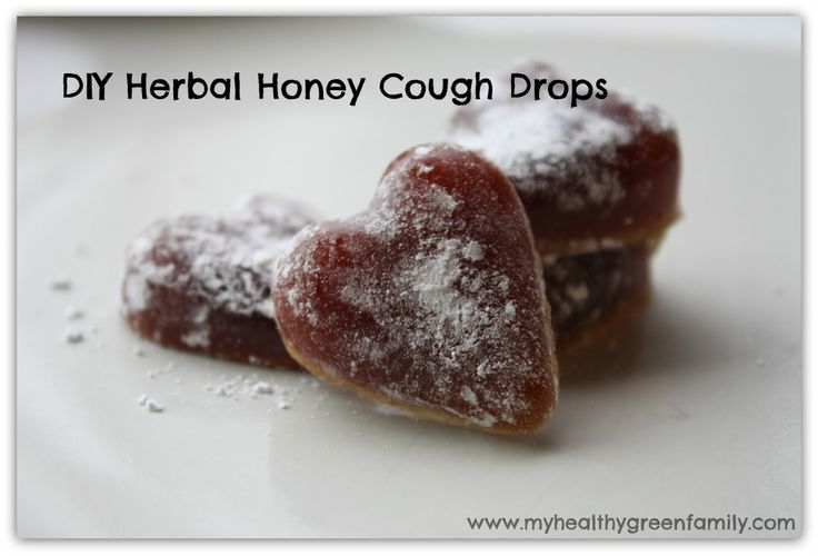 DIY Herbal Honey Cough Drops | My Healthy Green Family - Add sucker sticks and these become cough suckers! Sweet!