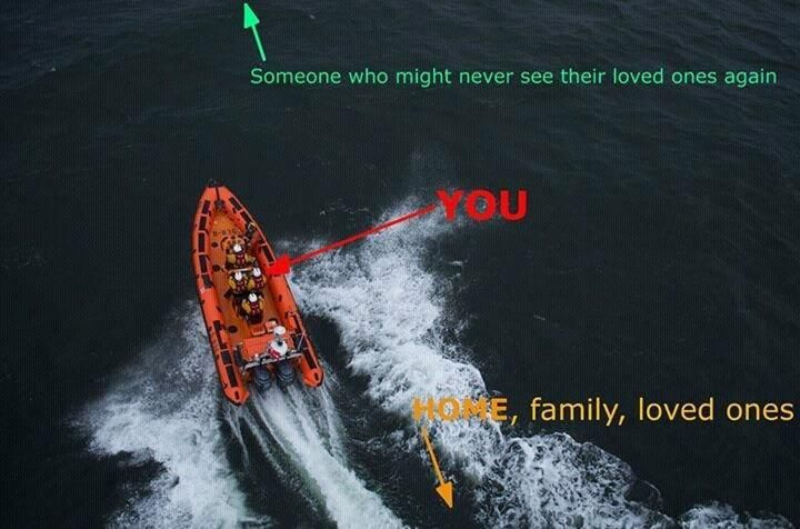 Tower RNLI @TowerRNLI Saw this picture on Facebook taken from an @rnli_kinghorn volunteering poster - So few words - But so powerful !