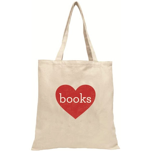 Heart books tote bag. Perfect for booklovers. £10.99
