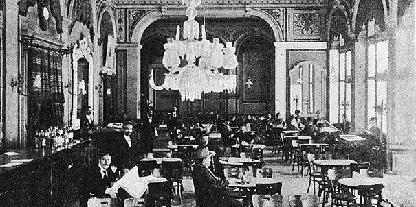 diaforetiko.gr : Τα καφενεία της Αθήνας του 1900. Καφενείο του Ζαχαράτου 1895