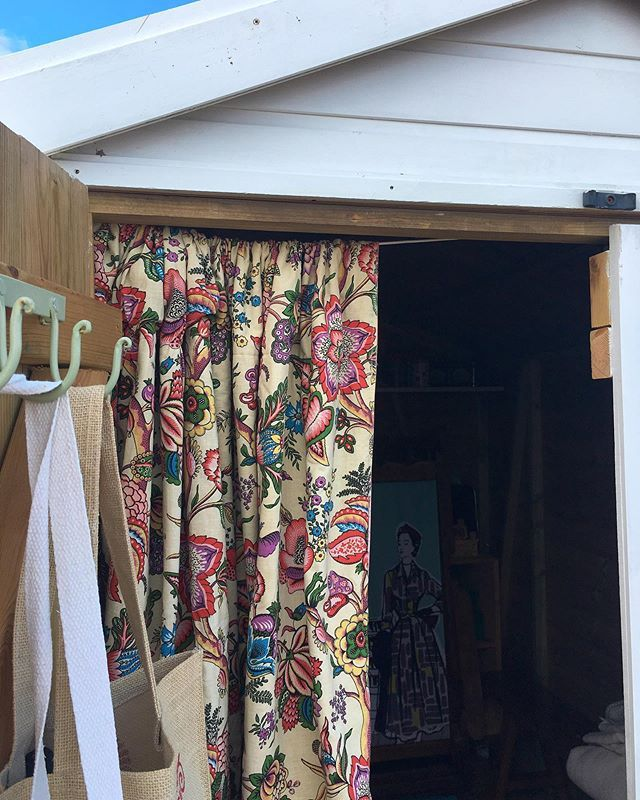 Beach Hut Curtain Up Today A New One Is Coming But In The