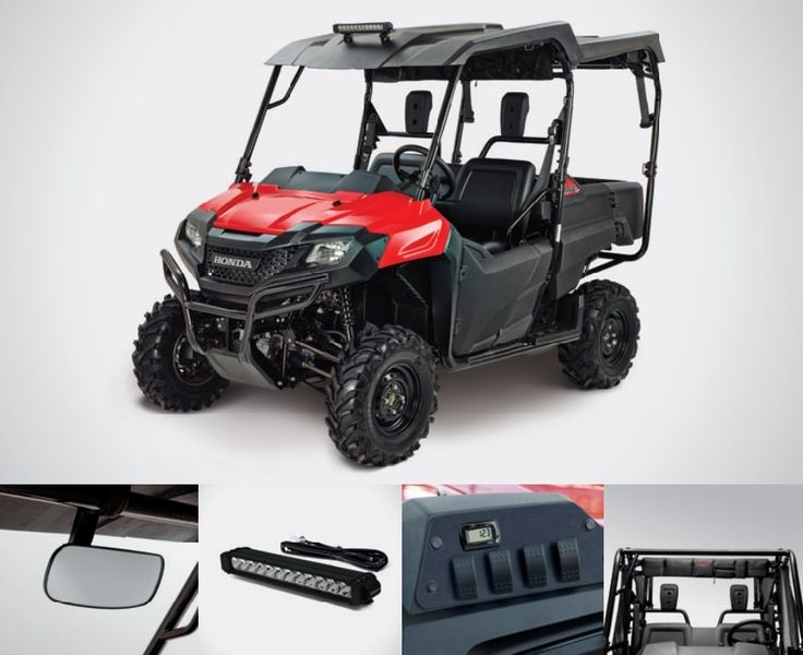 Honda Pioneer 700-4 Accessories Review | Hard Roof / Top, LED Light Bar, Switch Plate / Volt Meter / Wire Harness, Cab Frame Cargo Bag Discount Parts Prices + More by www.HondaProKevin.com