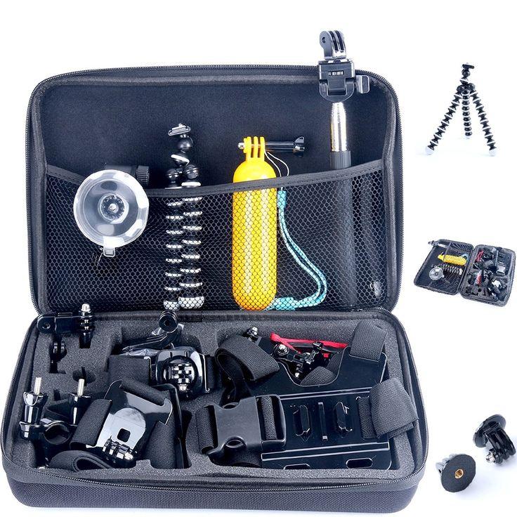 26in1 Head Chest Mount Monopod Accessories Kit for Gopro 2 3 4 Camera YaeKoo NEW #YaeKoo