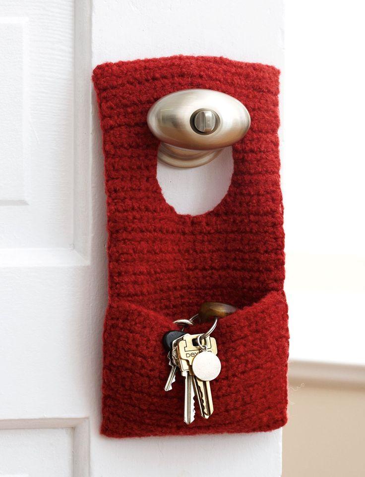 Felted Door Knob Organizer