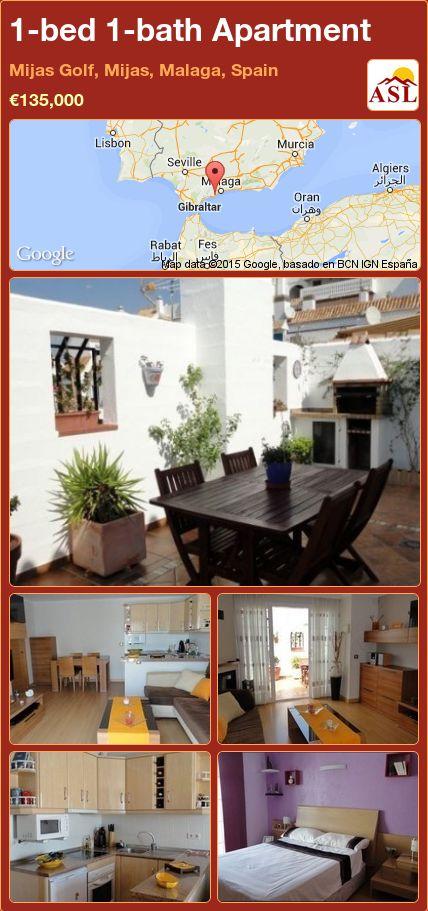 1-bed 1-bath Apartment in Mijas Golf, Mijas, Malaga, Spain ►€135,000 #PropertyForSaleInSpain