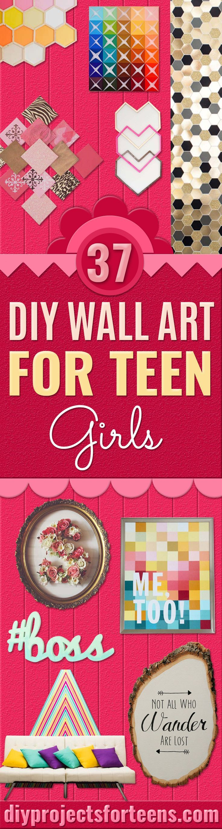 DIY Wall Art Ideas for Teen Rooms -Cheap and Easy Wall Art Projects for Teenagers - Girls and Boys Crafts for Walls in Bedrooms - Fun Home Decor on A Budget - Cool Canvas Art, Paintings and DIY Projects for Teens http://diyprojectsforteens.com/diy-wall-art-teens