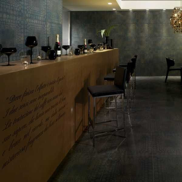 home bar design with floor and wall tiles