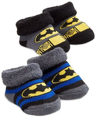 ABG Accessories Baby Socks, Baby Boys Batman And Superman 2-Pack Booties - Kids Baby Boy (0-24 months) - Macy's