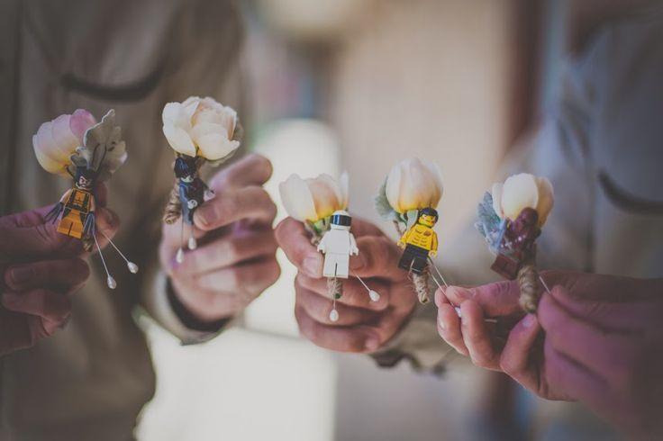 Lego buttonholes by Sassafras Flower Design