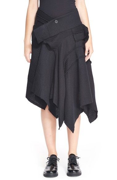 Y's by Yohji Yamamoto Patchwork Skirt available at Nordstrom