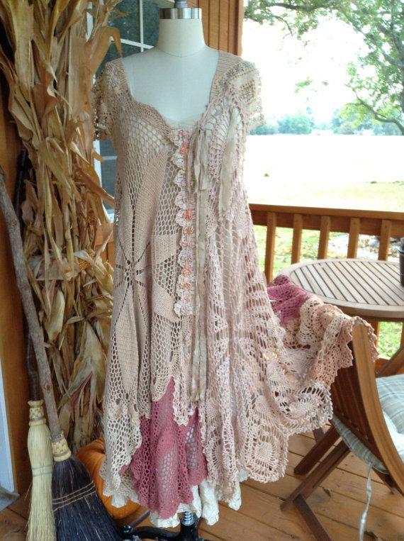 Luv Lucy Art To Wear Crochet Dress... lace & by LuvLucyArtToWear