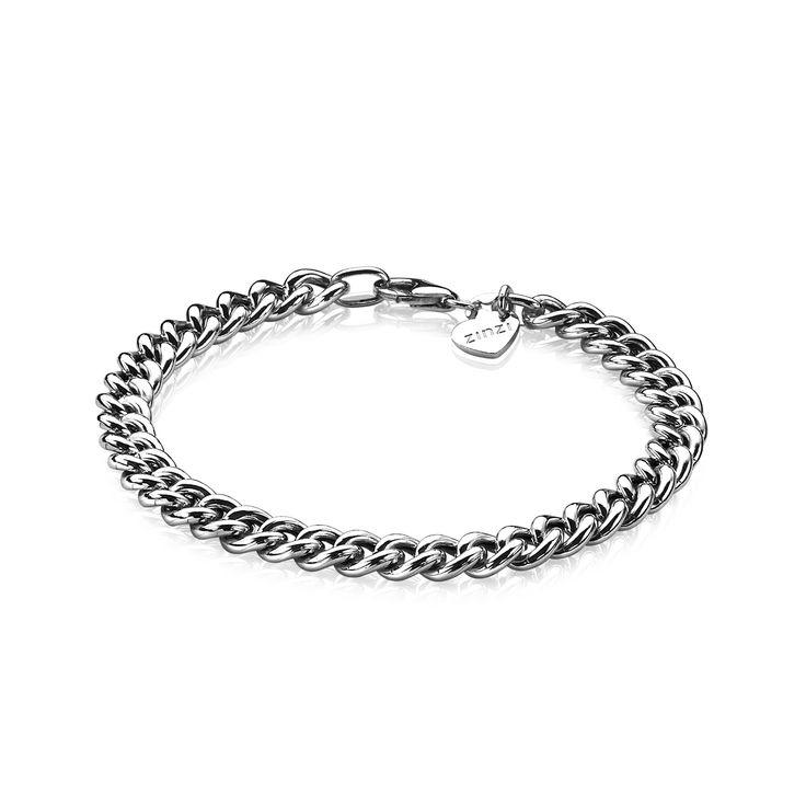 Zinzi zilveren gourmet armband 6,5mm breed 19cm ZIA1056