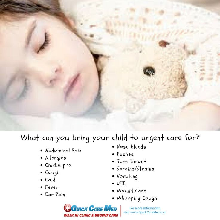 If your child experiences any of these systems and you can