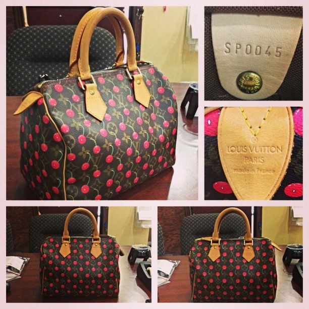 Louis Vuitton Speedy 25 Limited Edition Cerices Cherry Handbag.  #louisvuitton #louis #vuitton #LV #handbag #handbags #limitededition #bocaratonpawn