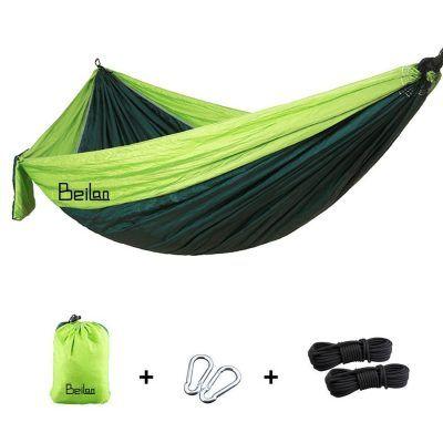 Hamaca ultraligera y duradera por solo 17,77€  Nuestras hamacas están hechas de tela de nylon de paracaídas que es fuerte, transpirable, resistente y de fácil secado anuncio cómodo. Fácil de limpiar y secar rápidamente después de estar mojado.Ideal para la luz que viaja, camping, excursiones con mochila y dormir.    #acampada #camping #hamaca