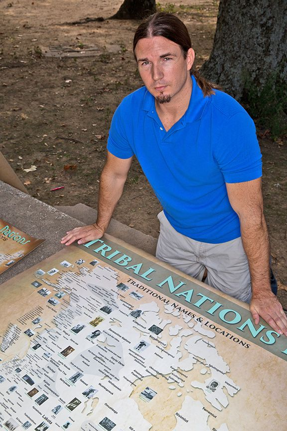 A Native American Map%0A Aaron Carapella creates maps showing the locations of indigenous peoples  prior to European colonization  Photo