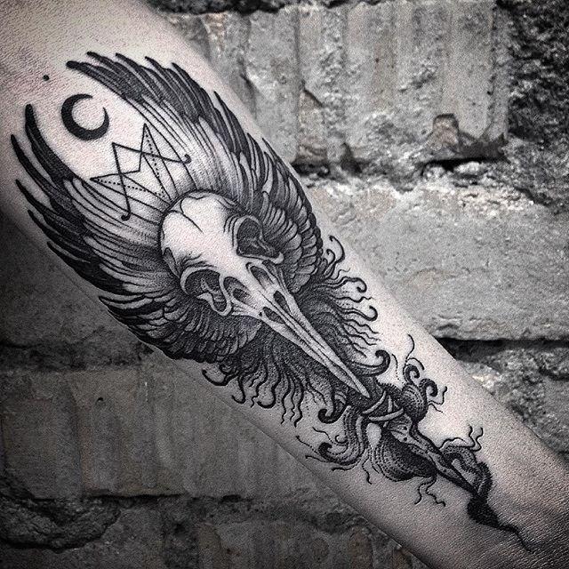 Последняя работа 2015, как бы с оптимизмом смотрит в наступающий 2016й))💀💀💀 #tattoo #tatt #tattooinrussia #tattooloveart #wowtattoo #skulltattoo #skull #blackwork #blacktattoo #dotwork #dotworktattoo #blacktattooart #ink #inked #blackworkerssubmission #equilattera #blackworkers #onlyblackart #darkartists #blacktattoomag #TAOT #btattooing #tattooistartmagazine #дотворк #череп #татуировкачереп #тату #татуировка #inkmetattooteam