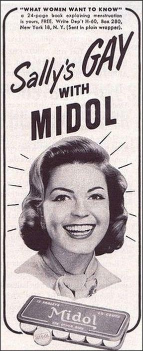Vintage Midol Advert. - Haha!