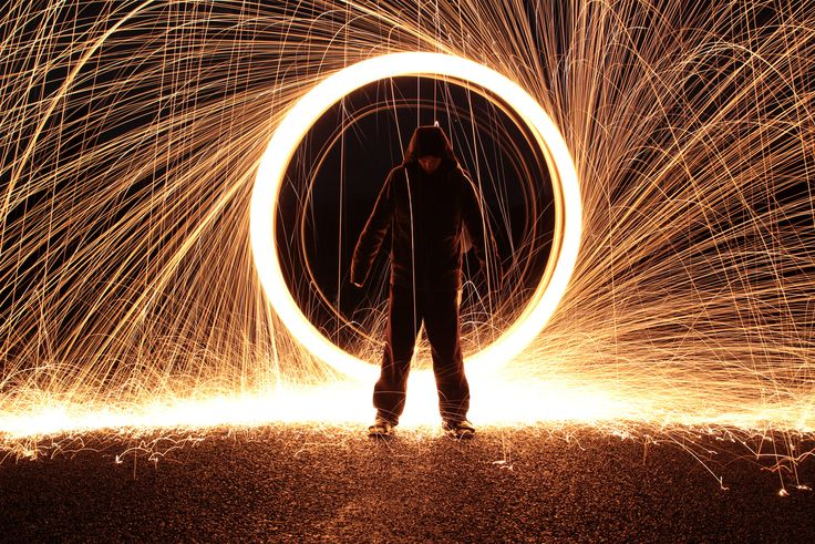 Steel wool photography trick.