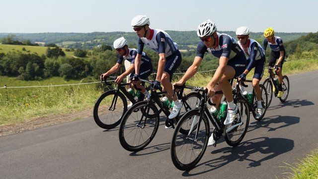 "London 2012: Mark Cavendish backs GB cycling 'dream team'      Mark Cavendish says the team-mates surrounding him in the Olympic road race on Saturday are some of the ""best riders in the world"".    Cavendish will be helped by Tour de France winner Bradley Wiggins in what he describes as ""the dream team"" of cycling.    How fast can you cycle a mile? Take the challenge now at http://www.konkura.com/challenge/?uid=1e6945d0-5992-43ef-8164-7c06877774fe=Fastest+mile+TT"