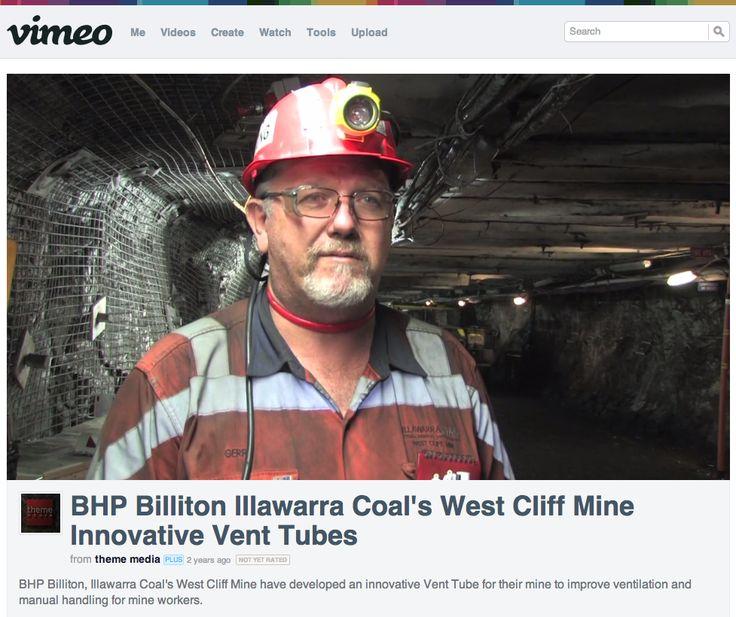 BHP Billiton Illawarra Coal's West Cliff Mine Innovative Vent Tubes