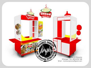 Desain Logo   Logo Kuliner    Desain Gerobak   Jasa Desain dan Produksi Gerobak   Branding: Desain Gerobak Tansu Mpok Yeyen