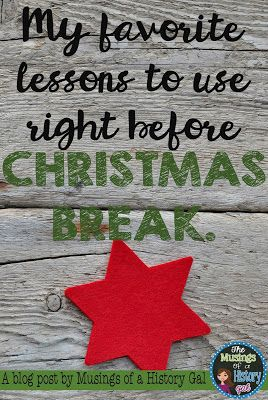 Looking for some great Christmas activities for your 6th, 7th, 8th, 9th, 10th, 11th, or 12th grade students to help you make it through the last days and weeks before the winter holiday? Then you're going to LOVE this ideas at this blog post! Click through to decide which one is a MUST in your classroom!