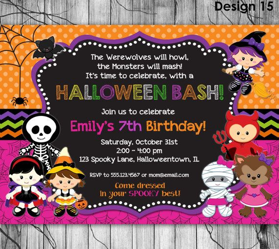 HALLOWEEN Invitation Kids PRINTABLE by KidsPartyPrintables on Etsy