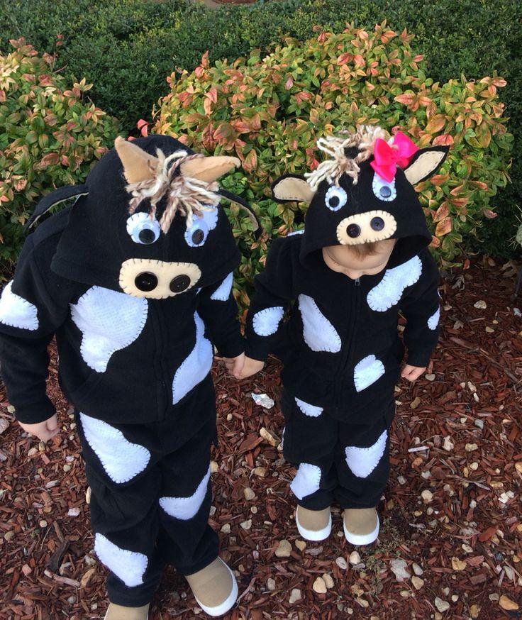 DIY toddler cow costumes