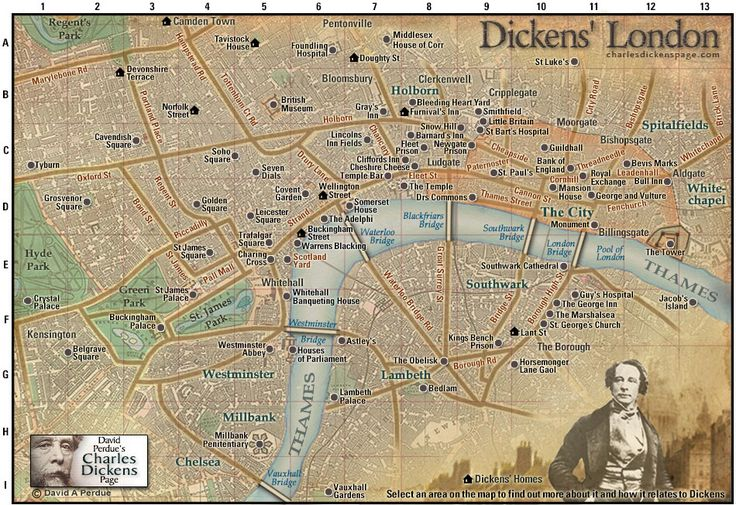 David Perdue  39 s Charles Dickens Page   Dickens  39  London Map