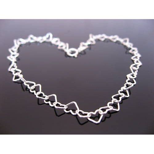 Other – Sterling Silver Hearts Belly Chain – a unique product by clutchandclasp-rose on DaWanda