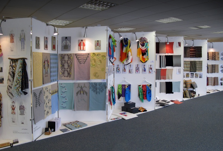 Exhibition Stand Textile : View of the textiles degree show http gsa ac