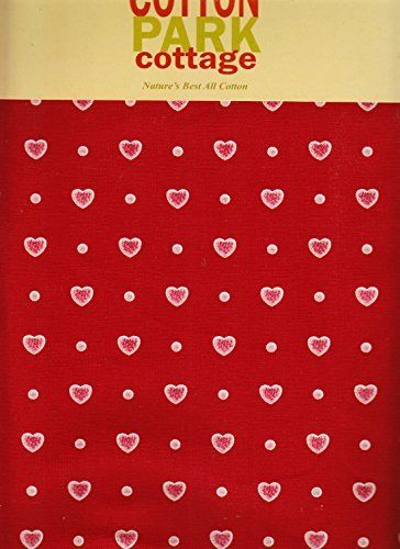 Valentines Day Red Pink Tiny Hearts Cotton Fabric Tablecloth 60 X