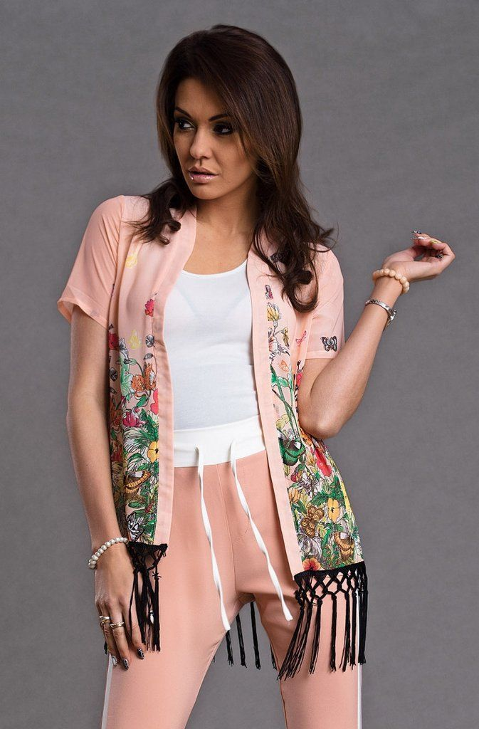 Floral printed fabric cape