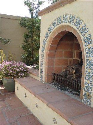 Southwestern Fireplace Studio H Landscape Architecture Newport Beach, CA