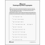 Thanksgiving Word Cryptogram